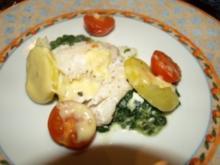 Dorsch im Spinatbett mit Kartoffeldecke - Rezept