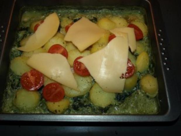 Dorsch im Spinatbett mit Kartoffeldecke - Rezept - Bild Nr. 11