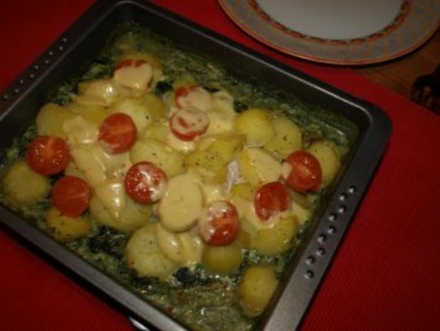 Dorsch im Spinatbett mit Kartoffeldecke - Rezept - Bild Nr. 12