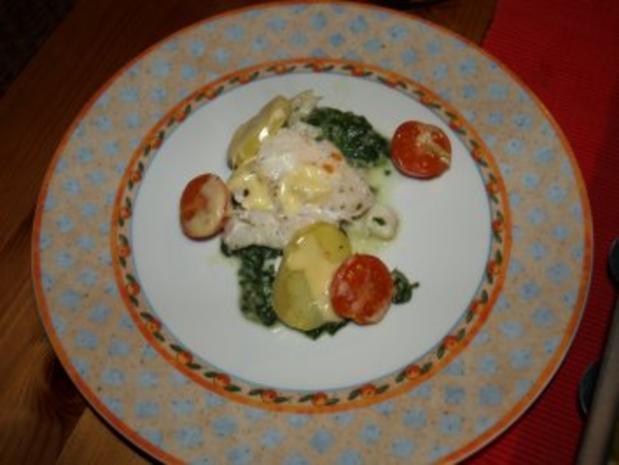 Dorsch im Spinatbett mit Kartoffeldecke - Rezept - Bild Nr. 13