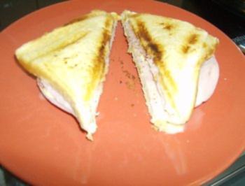 Rezept: Schinken Käse Sandwich Toast