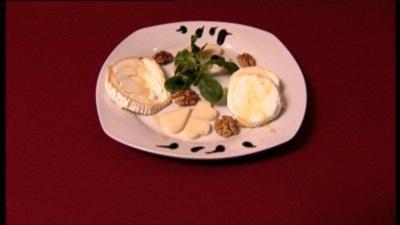 Ziegenkäse-Variation mit Balsamico-Crème und Edelkastanienhonig (Markus Becker) - Rezept