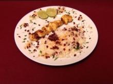Djujeh Kabab – Gegrilltes Hühnchen mit Safranreis und Berberitzen (Lisa Bund) - Rezept