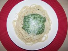 Spinat-Soße für Spaghetti - Rezept