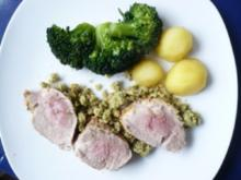 Schweinefilet mit Kräutersenfkruste - Rezept
