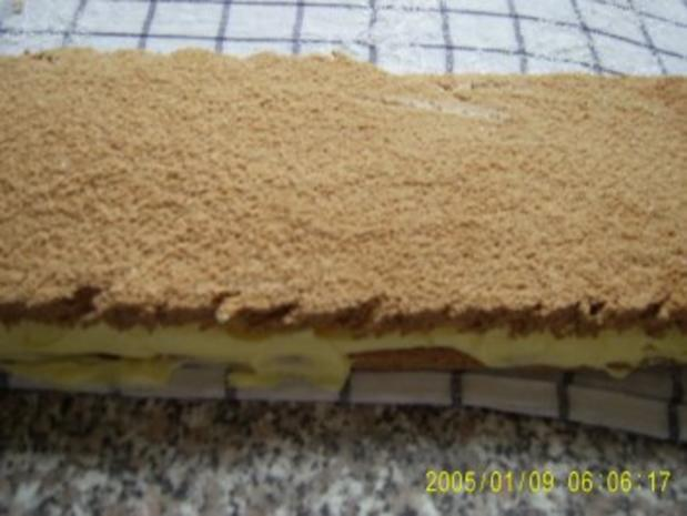 Biskuit-Creme-Schnitten - Rezept - Bild Nr. 17