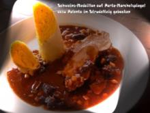 Schweine-Medaillon auf Porto-Morchel-Spiegel mit Thymian-Mais im Brick - Rezept