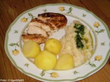 Hähnchenfilet zu Selleriepüree - Rezept