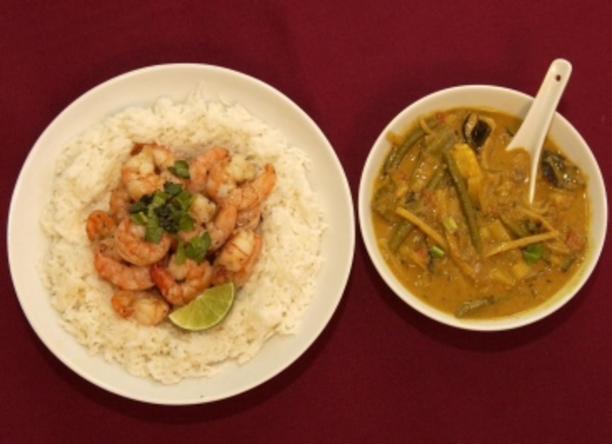 Tigerprawns im Reisnest mit Curry (Judith Adlhoch) - Rezept By Das perfekte Promi Dinner