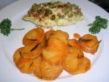 Kartoffeln in Weißwein gedünstet (als Beilage zu meiner Hähnchenbrust  in Pistaziensahne) - Rezept