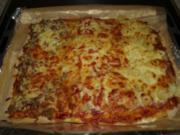 Pizzablech mit drei Sorten - Rezept