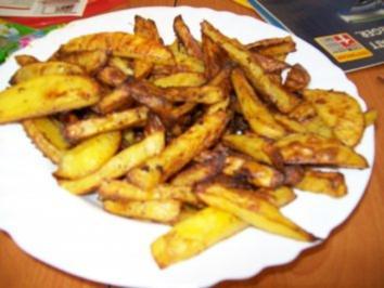 Nuggets mit Pommes und frischem Salat - Rezept