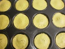 Mandelküchlein mit Matcha-Tee - Rezept