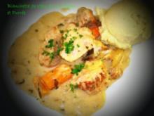 Kalbsvoressen à la Créme mit Kartoffel-Pourrée - Rezept