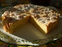 Gedeckter Apfelkuchen, Apfelkuchen - Rezept