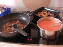 Champignons gefüllt und überbacken - Rezept