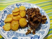 Rinderfilet mit Pfifferlingen und Chips-Kartoffeln - Rezept