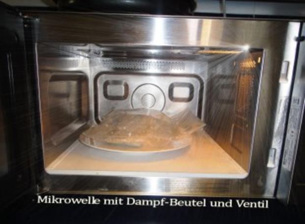 MIKROWELLENDAMPFMENU - Cabillaud an Kraeuter-Sauce mit Safran-Curryreis und Blattspinat - Rezept - Bild Nr. 2