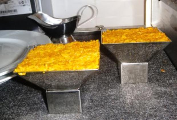 MIKROWELLENDAMPFMENU - Cabillaud an Kraeuter-Sauce mit Safran-Curryreis und Blattspinat - Rezept - Bild Nr. 3