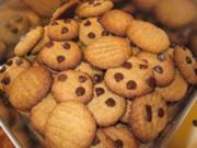 Erdnussbutter- Schoko- Cookies - Rezept