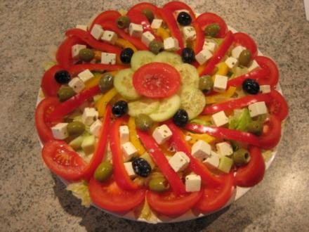 Riesen Salatteller - Rezept