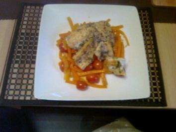 Seelachs auf Bouillabaisse Gemüse - Rezept