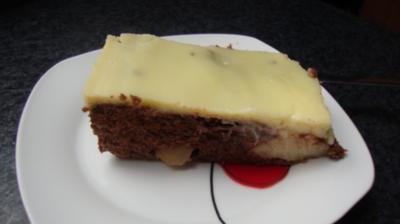 Schokobirnen Blechkuchen - Rezept