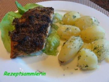 Fisch:    LACHSFILET mit Kräuterkruste - Rezept