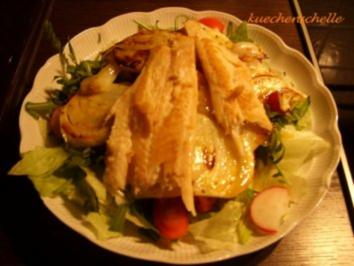 Salat mit gebratenem Fenchel und Forellenfilets - Rezept