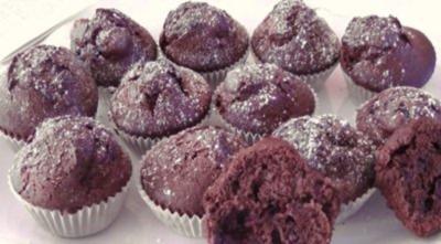 ~was Süsses~ Schokoladen-Kirsch-Muffins - Rezept