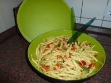 Vegetarischer Nudelsalat - Rezept