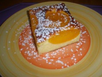 Rezept: Dessert - Pfirsich Topfen Auflauf