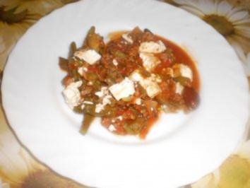Griechische Bohnen-Hack-Pfanne - Rezept
