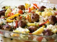 Frühlings-Auflauf mit Hackbällchen und Gemüse - Rezept