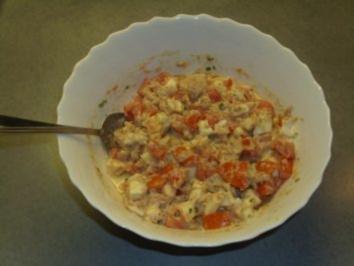 Salate: Eier-Thunfischsalat mit Mozzarella - Rezept