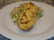 Gratiniertes Kalbssteak mit mediterranen Kartoffelpürree - Rezept