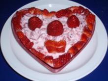 *Smiley-Dessert* Erdbeeren mit Quark - Rezept