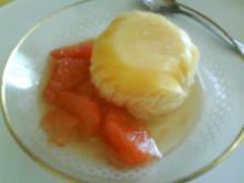 Grapefruit-Honigparfait mit Grapefruitfilets - Rezept