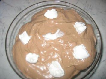 Profiterols mit selbstgemachten Schokopudding - Rezept