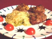 Medaillons vom Schwein mit Käsehaube in Pfeffersoße und Bandnudeln - Rezept