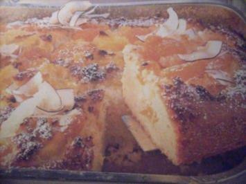 Blechkuchen mit Ananas und Mandarinen - Rezept