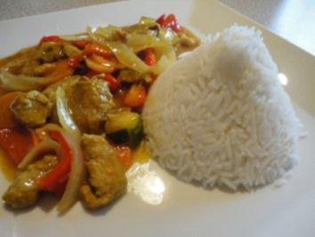 Rezept: China Pfanne mit Reis