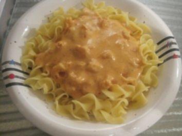 Pasta mit Garnelen in feuriger Tomatencreme-Soße - Rezept