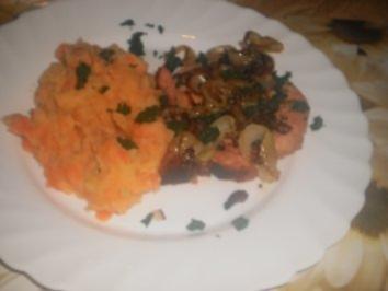 Kasseler-Koteletts mit Möhrenstampf - Rezept