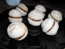 Macarons - Makronen mit weißer Kokos-Schokoladenfüllung - Rezept