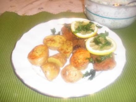 Gebackene Lammkoteletts in Kräuterpanier - Rezept
