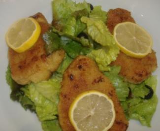 Blattsalate mit Kalbsschnitzelchen - Rezept