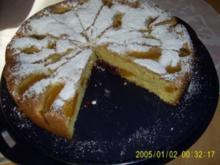 Pfirsich-Biskuitkuchen - Rezept