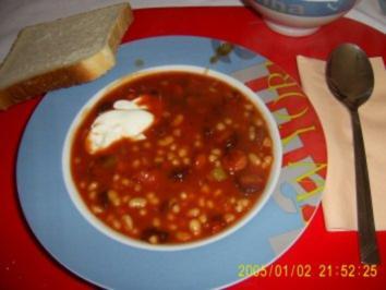 Rezept: Bohnen Suppe mit Debreziener