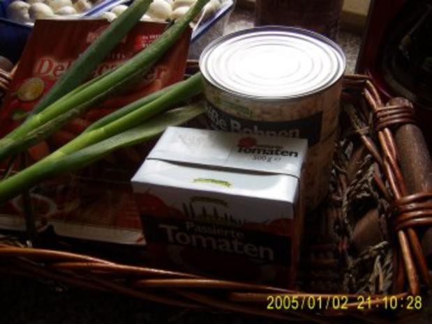 Bohnen Suppe mit Debreziener - Rezept - Bild Nr. 2